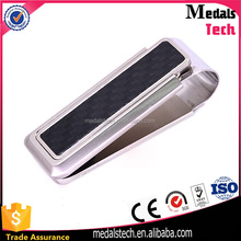 High quality metal customized replica titanium money clip for money