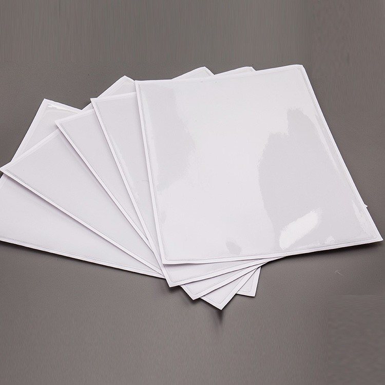 clear soft pvc self adhesive pocket for A4 size