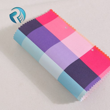 High quality 900d oxford 100 polyester fabric pu coated waterproof check pattern printing fabric