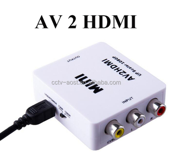 AOST Mini Full HD 1080p CVBS AV to HD-MI converter used for PC