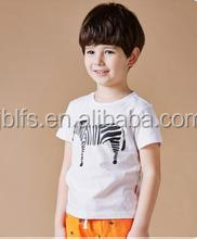 Eco-friendly custom design children printing pattern t shirt for sale
