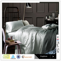leached reseda 100% Pure Fiber Bamboo Nature Bedding Sets Bed sheet bamboo sheets