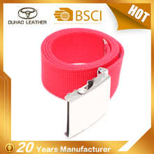 Best quality cheap price pure cotton red webbing belt chastity belt for men
