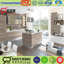 Light color wooden surface pvc design ghana kitchen cabinet