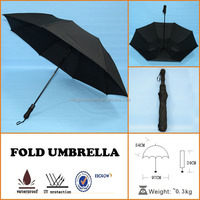 25inch golf windproof motorcycle mens black auto open foldable umbrella