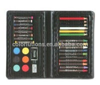 2014 Hot Selling Water color cake&Crayon Stationery Set