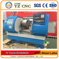 WRC26 Rim Repair Lathe Equipment Flat Bed CNC Wheel Cutting Lathe