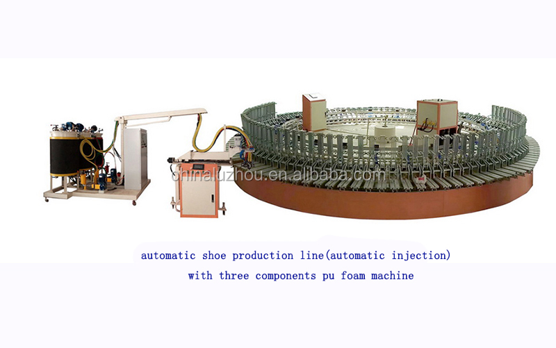 24 work posts Polyurethane Foam Processing School shoes making machine