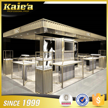 Professional jewellery shops mall kiosk interior design jewelry cabinet display