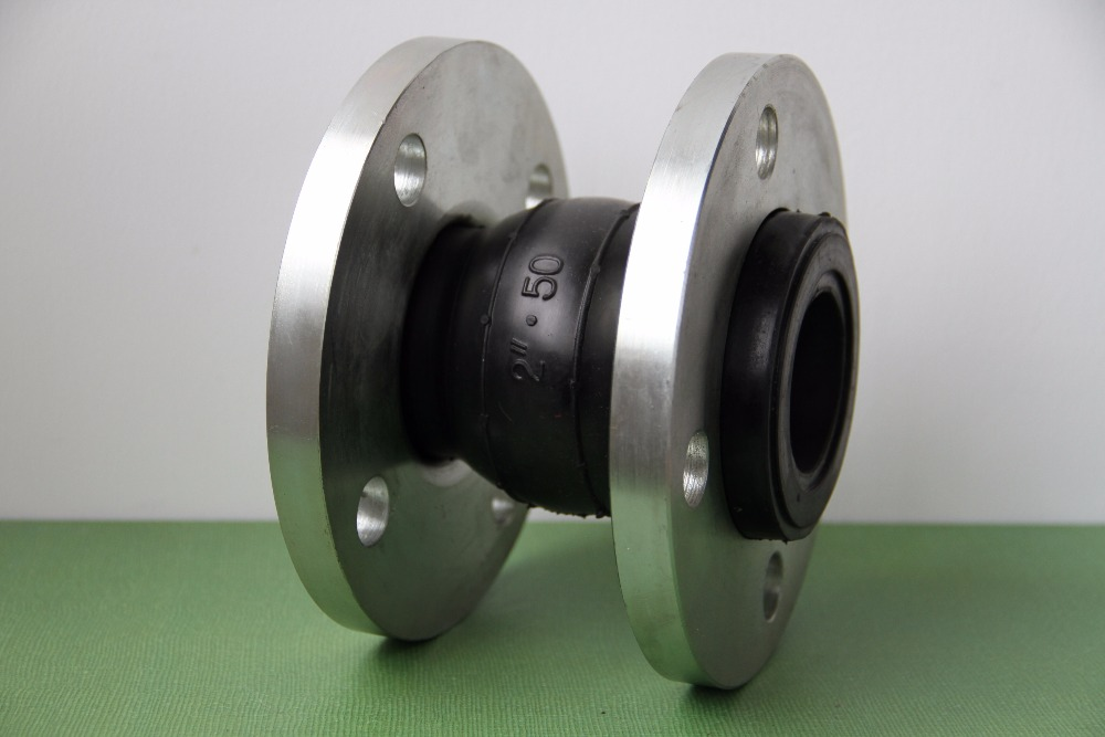 double flanged end single sphere flexible rubber expansion joint