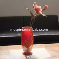Super quality competitive price glass mosaic decorated flower vase