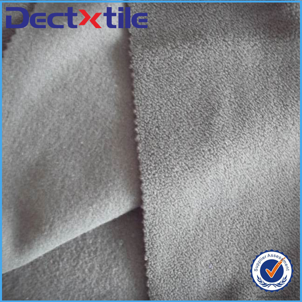 Anti-static heat-insulation polyester sherpa fleece fabric with good quality but low price