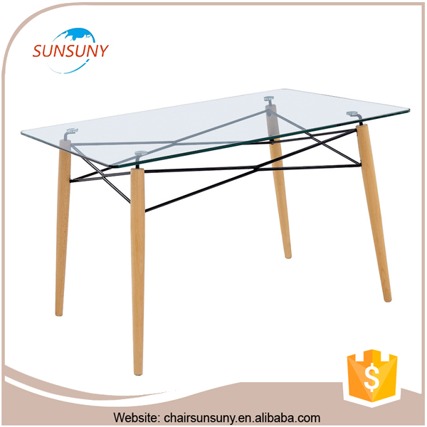 China gold supplier cheapest design top quality square glass dining table designs