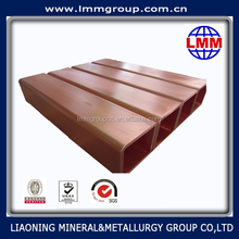 2015 new product square copper mould tube supplier of CONCAST