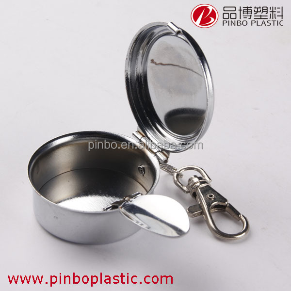 ashtray with lid,hot selling portable keychains stainless steel outdoor windproof ashtray