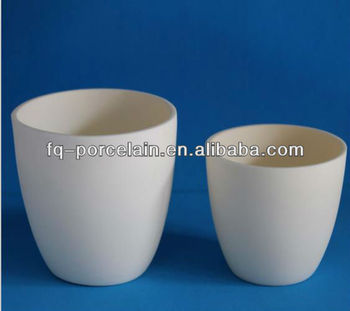 99-99.7% high purity Alumina Ceramic Crucible With Lids And Covers