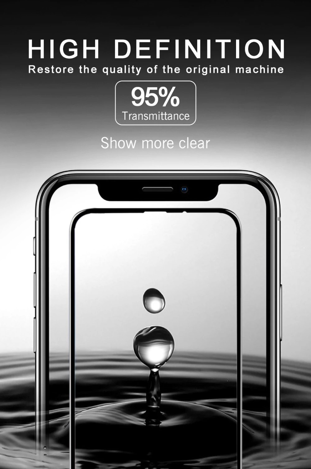 2019 New Glass Screen Protector for iphone x xs max xr A70 Flexible toughened safety glass 9D Nano Glass Ceramics Film
