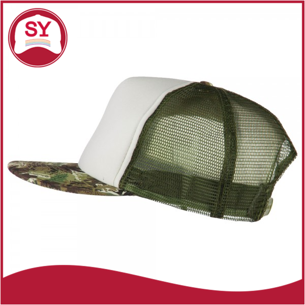 Camouflage miltary style trucker snapback cap for men who love the outdoors