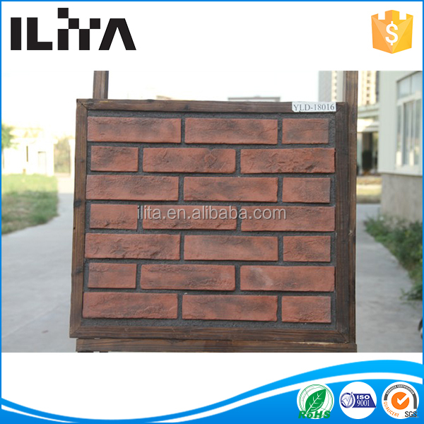Radiation-free Faux Brick Panels, Wall Stone Cladding, Thin Brick Veneer (YLD-18016)