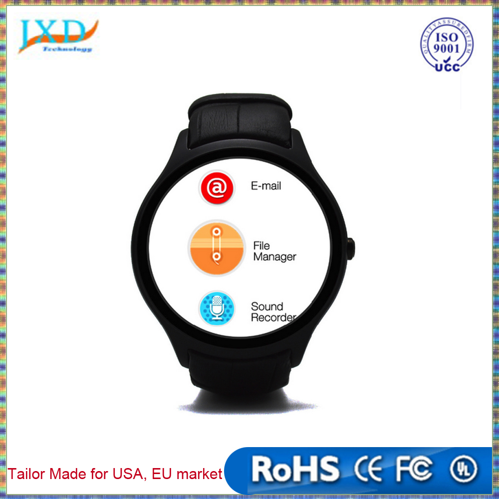 "NO.1 D5 Smartwatch 1.3"" 360x360 Android 4.4 OS 512MB + 4GB MTK6572 Smart Watch with GPS Wifi Bluetooth Heart Rate"