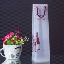 Wholesale Fashion Customized Design PP Cheap Bottle Bag Wine Gift Bag