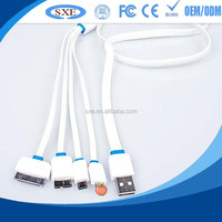 Super speed factory price multi 4 in 1 usb charger cable 1m wholesale for i5