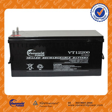 chinese Manufactory wholesale price lead acid agm solar deep cycle gel 12v 200ah battery