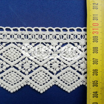 Fancy garment accessory cotton embroidery lace for ladies