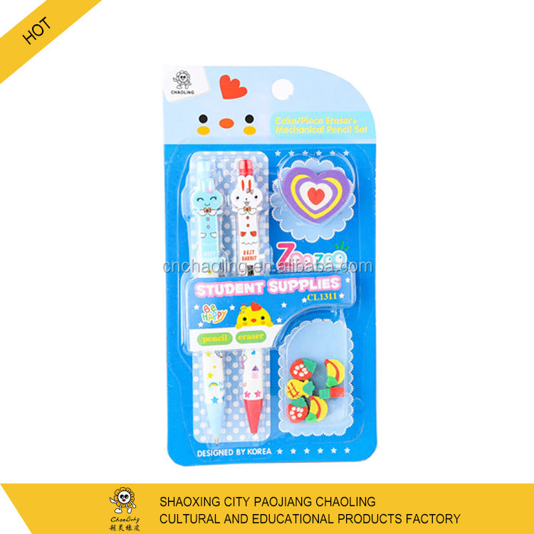 Wholesale OEM kids gifts school used students learning items cartoon children stationery sets