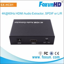 Audio Extractor Converter HDMI to HDMI + Optical Audio TOSLINK SPDIF +Digital Analog RCA L / R Stereo Audio Extractor Converter