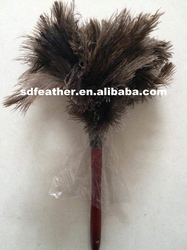 Wholesale 36cm Washable Cheap Ostrich Feather Duster with Wood Handle