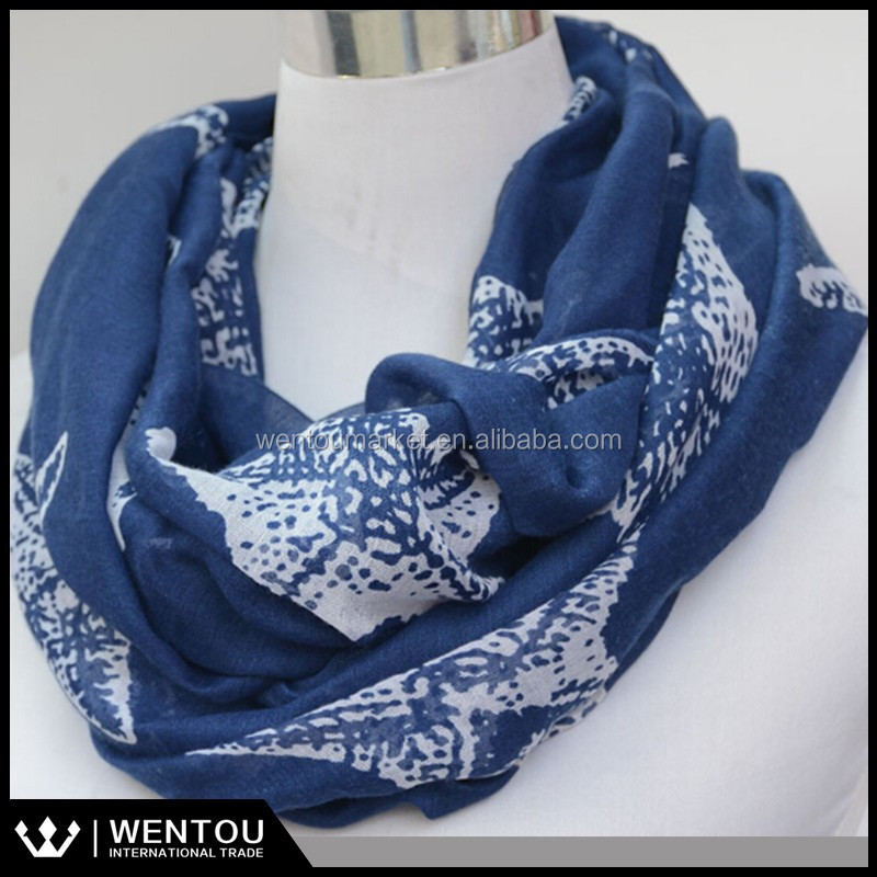 Spring Starfish Voile Animal Print Scarf