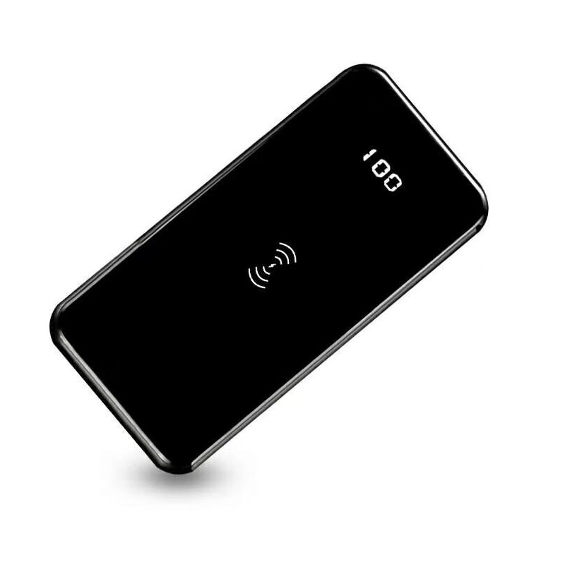 Latest Fashion Power Bank Super Slim Mirror Power Bank Wireless Power Bank 8000mah for Smartphone