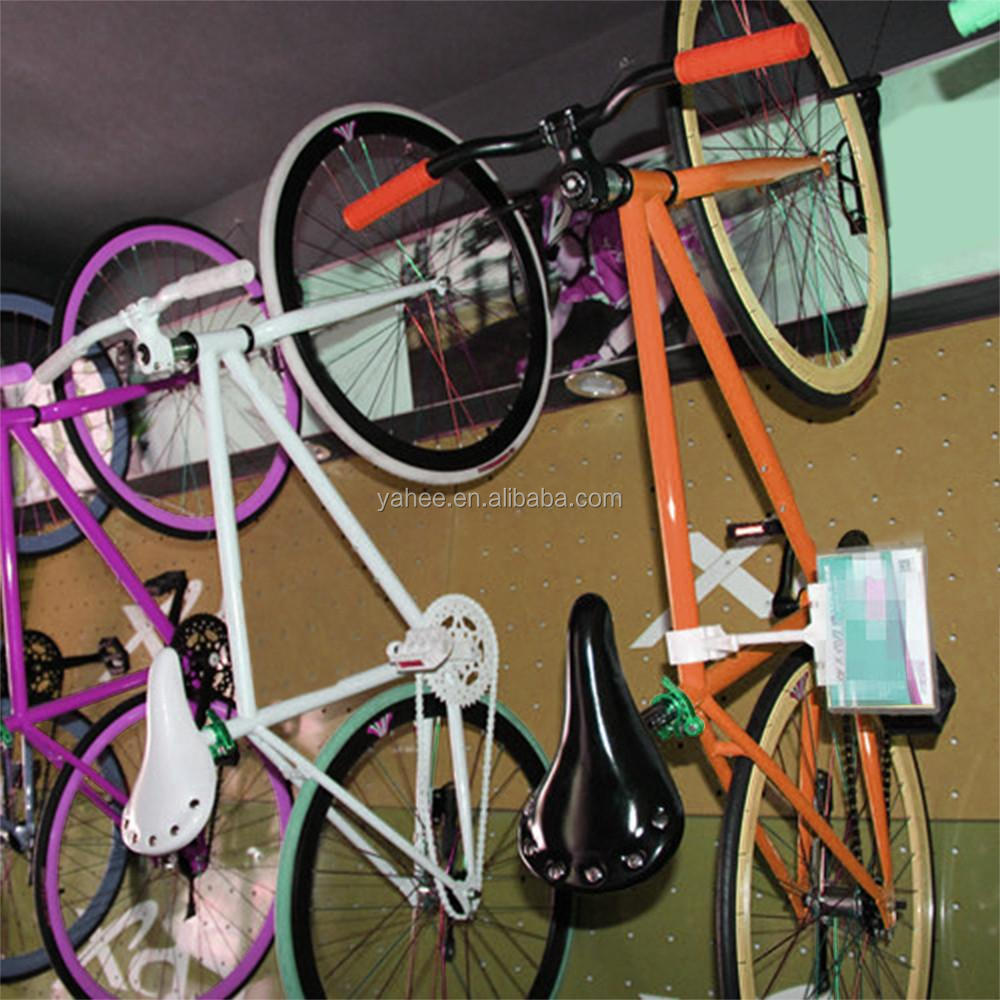 Wall Mount Bike Rack Bike Hanger Rack Steel Sturdy Hook Garage Black