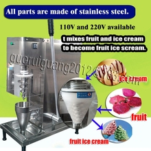World Class Fine Auger Type Blending machine,fruit ice cream mixer,nuts,juice mixing machinery yogurt ice cream blender with CE