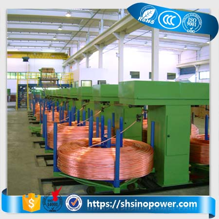 World popular copper continuous casting machine oxygen-free copper rod upcasting line