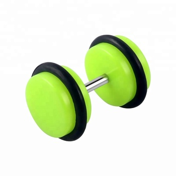 Fashion acrylic cheater ear piercing double side earring wholesale