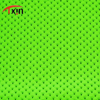 Plain Style fabric 100% Polyester Tricot Mesh Brushed Fabric sports fabric