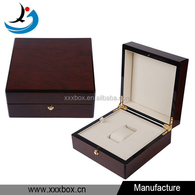Piano lacquer finishing wood watch box cheap gift storage cases for sale
