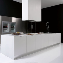 Italian Style Modern Design Matte White Finish Lacquer Kitchen Cabinet Furniture/Modern Design Kitchen
