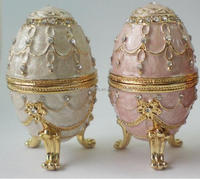 wholesale small faberge egg shaped Jewelry trinket box for wedding gift