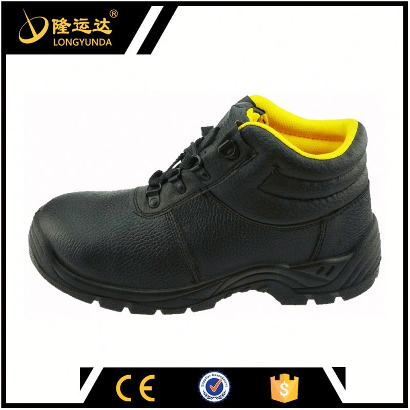 latest design shoes for workers flat pu injection sole buffalo leather safety shoes