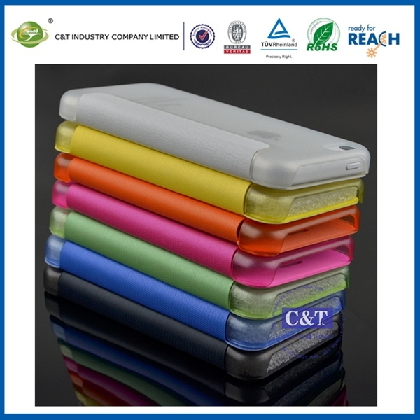 C&T 2014 new design custom 3d sublimation phone pu cover for apple iphone 5