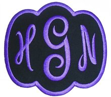 Custom Embroidered Empress Font Name Initial Monogram Iron On Applique Patch