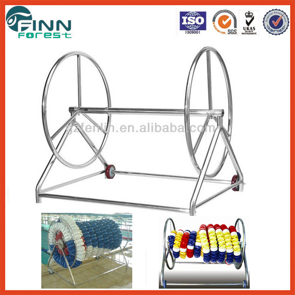Stainless steel detachable long swimming pool line reel