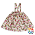 Floral Print Cotton Dresses High Quality Girls Suspender Skirt 0-6 Years Old Girls Party Dresses