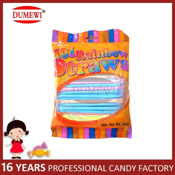 Colorful Fruity Straw Sour Powder Candy CC Stick Candy