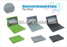 Leather Case Cover with USB Bluetooth Wireless Keyboard for Apple iPad 1 2 3 4