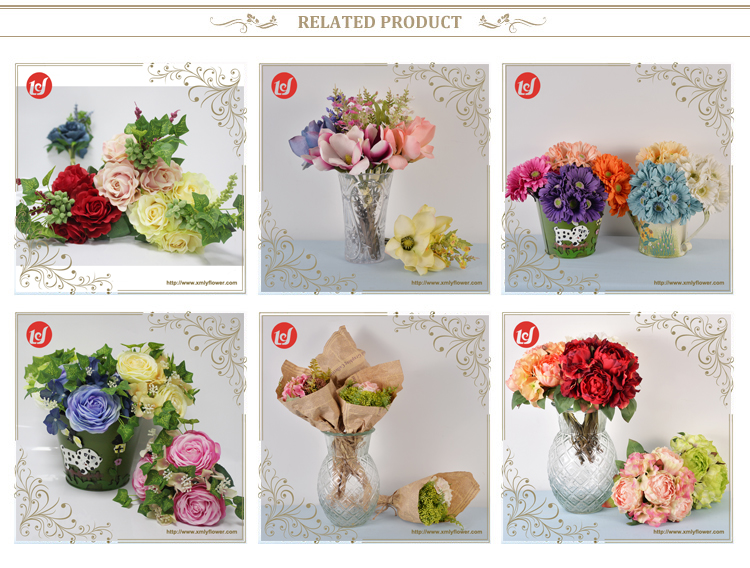 SFB4136 Wedding Decoration Faux Hydrangea Flower Silk Bouquet Flowers Artificial