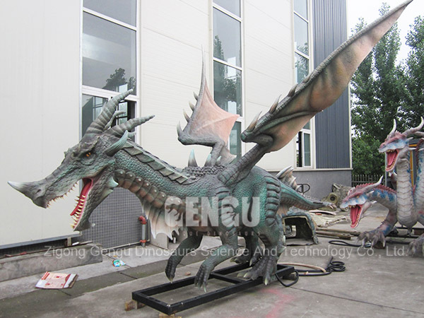 Animated Theme Park Mechanical Dragon